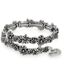 ALEX AND ANI - Metallic Metal Accents Flora Wrap Bracelet - Lyst
