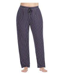 Donna Karan | Purple Plus Striped Jersey Lounge Pants | Lyst