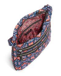 Vera Bradley Blue Iconic Triple-zip Hipster Cross-body Bag