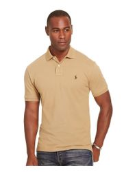 Polo Ralph Lauren | Natural Classic-fit Solid Mesh Polo Shirt for Men | Lyst