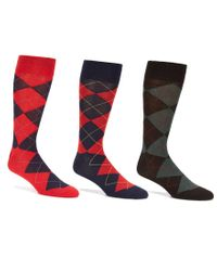 Polo Ralph Lauren | Blue Argyle Dress Socks 3-pack for Men | Lyst