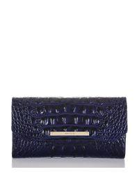 Brahmin | Blue Melbourne Collection Soft Checkbook Wallet | Lyst