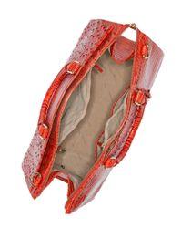 Brahmin | Brown Asher Croc Embossed Leather Tote Bag | Lyst