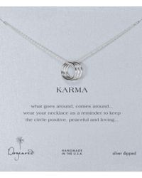 Dogeared | Metallic Triple Karma Delicate Ring Necklace | Lyst