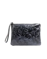 Patricia Nash | Black Tooled Cassini Wristlet Clutch | Lyst
