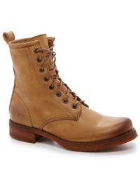 Frye | Natural Veronica Combat Mid-calf Boots | Lyst