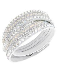 Swarovski | Metallic Slake Deluxe Microfiber Wrap Bracelet | Lyst
