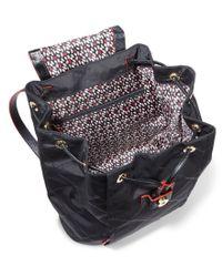Vera Bradley - Black Diamond-patterned Backpack - Lyst