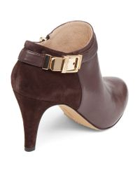 Vince Camuto Brown Vanny Ankle Boots