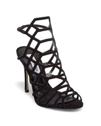 Steve Madden | Black Slithur Caged Dress Sandals | Lyst