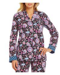 Vera Bradley | Multicolor Long-sleeve Woven Pajama Top | Lyst