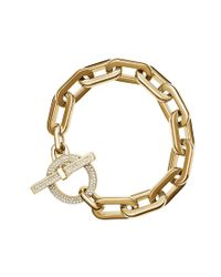 Michael Kors | Metallic Skorpios Braided Link Toggle Bracelet | Lyst