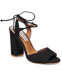 Steve Madden | Black Swyndlee Dress Sandals | Lyst