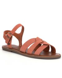 TOMS - Brown Zoe Sandals - Lyst