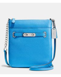 COACH | Blue Swagger Swingpack In Polished Pebble Leather | Lyst