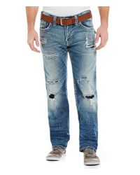 Silver Jeans Co. | Blue Zac Relaxed Straight-fit Jeans for Men | Lyst
