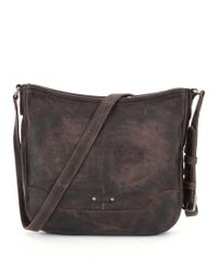 Frye - Brown Melissa Button Cross-body Bag - Lyst