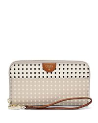 Fossil | Pink Gifting Zip Clutch Wallet | Lyst