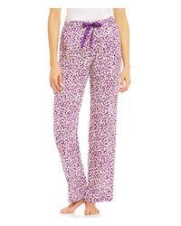 Calvin Klein | Purple Brushstroke Pajama Pants | Lyst