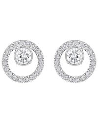 Swarovski | Metallic Creativity Circle Stud Earrings | Lyst