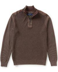 Tommy Bahama | Brown Coastal Shores Quarter-zip Mockneck Pullover for Men | Lyst