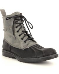 "Wolverine | Black Men ́s Felix 6"" Leather Waterproof Lace-up Boots for Men 