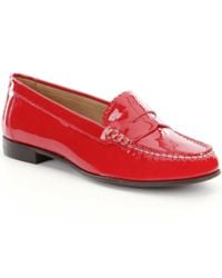 Jack Rogers | Red Quinn Patent Leather Scalloped Loafers | Lyst
