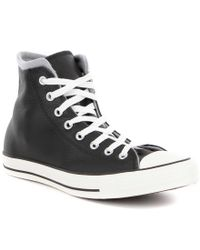 Converse   Black Men ́s Chuck Taylor® All Star® Leather Hi Top Sneakers for Men   Lyst