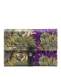 Patricia Nash - Green Artisan Sunflower Collection Colli Flap Wallet - Lyst