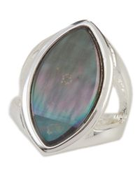 Robert Lee Morris - Black Robert Lee Morris Oval Stone Cut-out Ring - Lyst