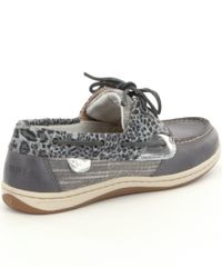Sperry Top-Sider - Gray Koifish Cheetah Boat Shoes for Men - Lyst