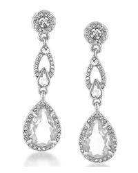 Carolee | Metallic Columbus Circle Linear Teardrop Earrings | Lyst