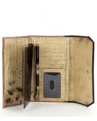 Brahmin - Multicolor Ventana Collection Tortoise-print Soft Checkbook Wallet - Lyst