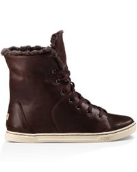 UGG - Brown Croft Luxe Quilt Lace Up Sneakers - Lyst