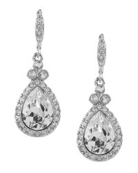 Givenchy | Metallic Crystal Pavé Pear Drop Earrings | Lyst