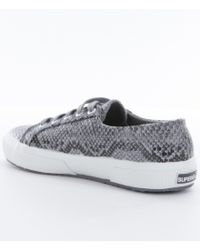 Superga - Gray Womens 2750 Cotusnakew Sneakers - Lyst