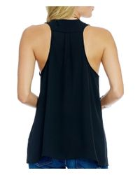 Guess - Blue Orielle Embellished Cut-out Tank - Lyst