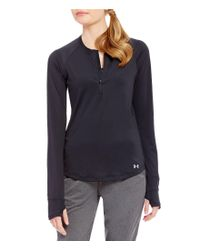 Under Armour | Black Running Reflective Fly By Half Zip | Lyst