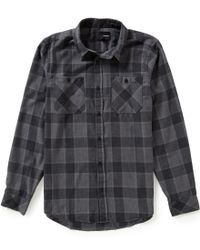 Hurley | Black Long-sleeve Landon Flannel Plaid Shirt for Men | Lyst