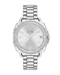 COACH - Metallic Tatum Stainless Steel Bracelet Watch - Lyst
