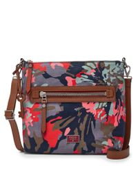 Fossil | Multicolor Dawson Floral Cross-body Bag | Lyst