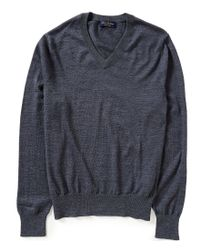 Brooks Brothers | Gray Saxxon Stretch V-neck Sweater for Men | Lyst