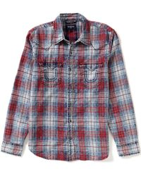 True Religion | Red Plaid Western Shirt for Men | Lyst