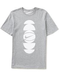 Nike - Gray Dry Core Art 3 Basketball T-shirt for Men - Lyst