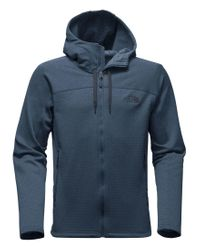 The North Face | Blue Needit Fleece Elbow-patch Full-zip Hoodie for Men | Lyst