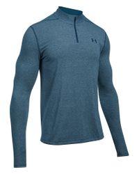 Under Armour | Blue Threadborne Performance Quarter-zip Long-sleeve Pullover Shirt for Men | Lyst