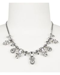 Givenchy   Metallic Crystal Frontal Necklace   Lyst