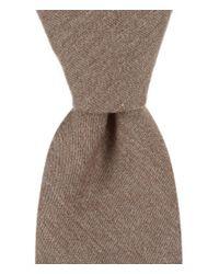 Original Penguin | Brown Meraz Solid Skinny Tie for Men | Lyst