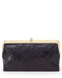 Hobo   Black Original Lauren Double-frame Clutch Wallet   Lyst