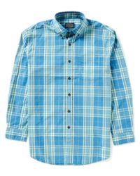 Pendleton   Blue Surf Plaid Button-down Collar Shirt for Men   Lyst